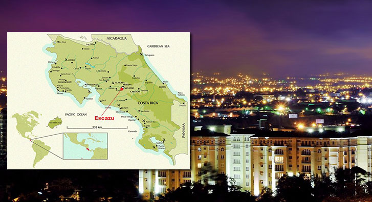 Map Costa Rica Vacations